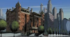 AVENGERS MANSION is a location in Marvel Comics. It has traditionally been the base of the Avengers. The enormous, city block-sized building is located at 890 Fifth Avenue, Manhattan, New York City.