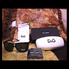 D&G® sunglasses Beautiful authentic D&G sunglasses it comes with everything in the pic below cardboard box, hard shell case, branded dust bag and wiping cloth. D&G Accessories Sunglasses
