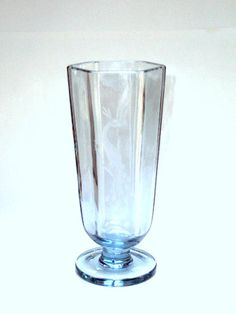 Vintage Blue Glass Vase Swedish from the by widgetsandwhatsus, $12.50