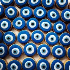 Olho Grego, Greek eye, Turkish eye, PETIT FOUR