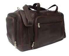 22426147642d LEATHER MULTI-COMPARTMENT DUFFEL BAG