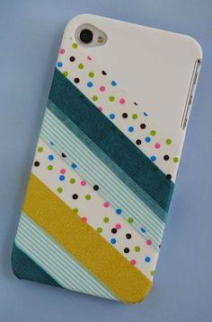 Washi Tape Phone Case | 28 Adorable DIY Gadget Cases