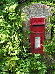 A post box in Cornwall.