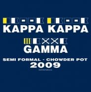Love the nautical theme for a Kappa Kappa Gamma semi-formal, crush party, or really any event.