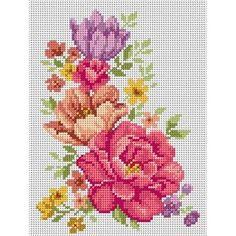 Cross Stitch Embroidery, Cross Stitch Patterns, Cross Stitch Flowers, Crochet Projects, Diy And Crafts, Canvas, Artwork, Cross Stitch Borders, Herb