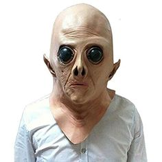 5c91551d65d0f Vicabo Halloween Mask Novelty Latex Rubber Alien Mask Halloween Party Scary  Costume Decorations Horror Face Mask for Adults