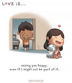 HJ Story - I believe the beauty of true love is learning to. Love Is Cartoon, Cute Love Cartoons, Couple Cartoon, Chibi Couple, Hj Story, Cute Love Stories, Love Story, True Stories, Anime Chibi
