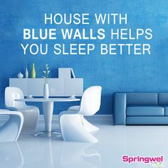 #TipOfTheDay Decor your home with blue walls. #HomeDecor