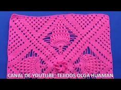 Crochet Poncho - Cotton Slipper with Flip Flop Soles Crochet Mandala Pattern, Crochet Chart, Crochet Squares, Crochet Stitches, Free Crochet, Crochet Patterns, Crochet Owl Purse, Crochet Bobble, Crochet Scrubbies