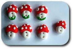 fimo button mushroom - Google zoeken