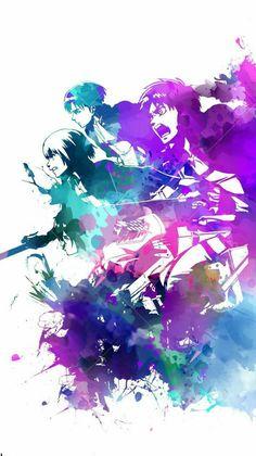 Levi Ackerman, Armin Arlert, Mikasa Ackerman & Eren Jaeger (Shingeki No Kyojin) Armin, Levi X Eren, Levi Ackerman, Mikasa, Art Manga, Manga Anime, Anime Art, Of Wallpaper, Wallpaper Backgrounds