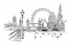 A wee London doodle as I was down there a few weeks ago. I think the Jubilee and Olympics will inspire some exciting illustration. London Sketch, London Drawing, London Bedroom Themes, Doodle Wedding, London Illustration, Travel Crafts, London Tattoo, London Skyline, London Underground