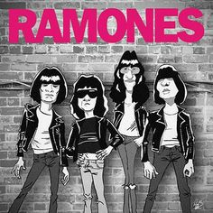 Ramones, Hey Ho Lets Go, Gabba Gabba, Celebrity Caricatures, Rock Posters, Blues Rock, Baby Shirts, Rock Music, Cool Bands