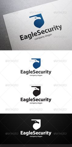 Eagle Security Logo #GraphicRiver Description Eagle Security Logo is a multipurpose logo. This logo can be used by security companies, etc. What's included? 100% vector AI and EPS files CMYK Fully editable – all colors and text can be modified Layered 3 color variations Font Font used: Myriad Pro Don't forget to rate if you like!