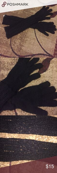 Long Black Italian mohair gloved Brand new never worn! In excellent condition and nice and warm. They go far up your arms too to keep your arms warm helen welsh Accessories Gloves & Mittens