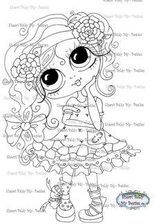 INSTANT DOWNLOAD Digital Digi Stamps Big Eye Big Head Dolls Digi  My - Besties Ashley Isabella By Sherri Baldy