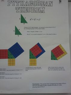 Links to Pythagorean Theorem Lesson including ideas for extra credit projects and a video w/ origami proof of the Pythagorean Theorem.