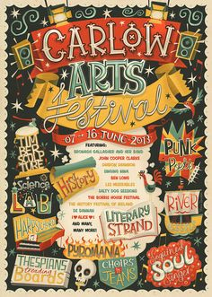 Carlow Arts Festival – Poster by Steve Simpson (Dublin, Ireland) | Festival programme cover and poster for the annual arts festival in the Irish town of Carlow.