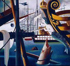 Mar de los Sargazos Urbano Lugris Max Ernst, Rene Magritte, Surrealism Painting, Famous Artists, Sailing Ships, Cool Stuff, Surrealism, Art, Urban