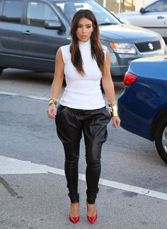 theclamourouslife:  Kim, these pants are EVERYTHING!