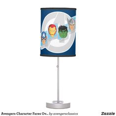 Avengers Character Faces Over Logo Table Lamp Avengers Cartoon, Marvel Cartoons, Avengers Characters, Cartoon Head, Incandescent Light Bulb, Trim Color, Rice Paper, Artwork Design, Original Artwork