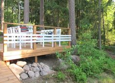 Aidan malli Garden Bridge, Fence, Terrace, Outdoor Living, Cottage, Outdoor Structures, Cabin, Yard Ideas, Balcony