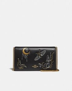 7503a06e Coach Callie Foldover Chain Clutch With Tattoo for use as wallet Go Bags,  Luxury Bags