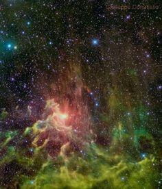 AE Aurigae Nebula - IC 405 [DSS-WISE] Giuseppe Donatiello on January 25, 2015 @ Oria (Brindisi) - Italy