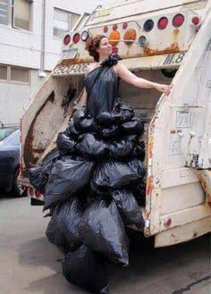 Garbage bag fashion