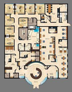 Image result for hotel spa floor plans