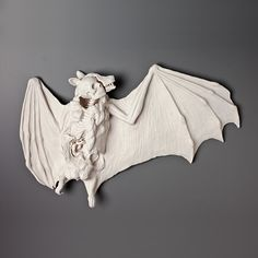 """Outfoxed"", 17x11x2.5, hand built porcelain, artist Kate MacDowell"