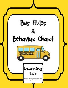 Behavior chart for on the bus.  Bus rules poster.
