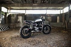 This stunning custom build from the English workshop Spirit of the Seventies takes the Triumph Scrambler's performance to a whole new level.