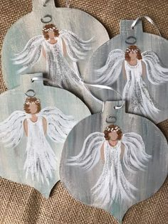 Excited to share this item from my shop: Hand painted Christmas Angel Ornament christmas angels Your place to buy and sell all things handmade Christmas Angel Crafts, Painted Christmas Ornaments, Hand Painted Ornaments, Etsy Christmas, Christmas Projects, Christmas Art, Handmade Christmas, Christmas Decorations, Crochet Christmas