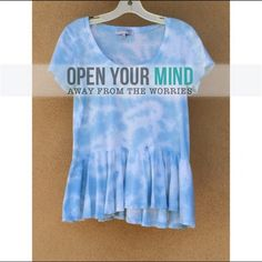Sold: Sky urban outfitter shirt Flowie and loose fitting Urban Outfitters Tops