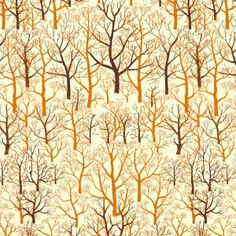 Mid Century Trees – Burnt Orange