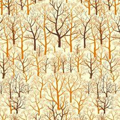Mid Century Trees - Burnt Orange