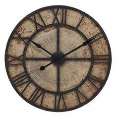 Mapa Wall Clock - Roman Numeral Clock - Decorative Wall Clocks | HomeDecorators.com
