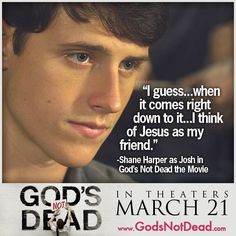 God's NOT Dead awesome movie in love the story line to it and how josh stands up for what he believes in