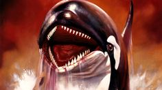 Orca the Killer Whale / Movie Poster / 1977 (Boris Vallejo) Horror Movie Posters, Cinema Posters, Movie Poster Art, Sci Fi Horror, Horror Films, Horror Art, Boris Vallejo, Classic Horror Movies, Classic Films