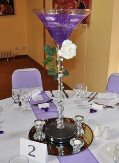Exceptional Table Centerpieces   Beat N Bop Discos [ Mobile Discos Basingstoke U0026 South  Of · Martini Glass ...