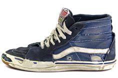 VANS sk8-HI worn through the soles.