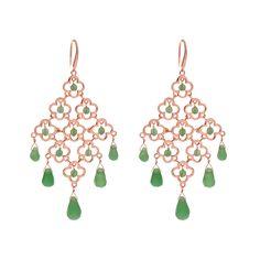 Chandelier - Ohrringe Lucky - Rosé - Leaf - Schmuck & Accessoires