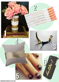 The Gold Standard currently coveting...gold accents via Make it a Double Please Blog