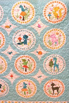 Sheri Berry Woodland Tails cheater quilt - coming in 2012!