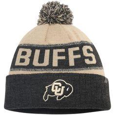 Colorado Buffaloes Top of the World Below Zero Cuffed Pom Knit Hat - Gold/Heathered Black