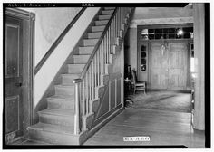 6.  Historic American Buildings Survey W. N. Manning, Photographer, January 25, 1935 STAIRWAY, HALL AND FRONT DOOR, TOWARDS SOUTH - Green-Woodruff House, Alexandria-Jacksonville Road, Alexandria, Calhoun County, AL
