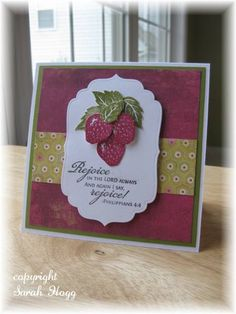 VLVApr2010 Rejoicing Strawberries by sarahhogg - Cards and Paper Crafts at Splitcoaststampers  (Feb'13)