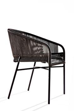 Anki Gneib - Cricket Chairs - Aluminium frame and hand woven man-made fibre