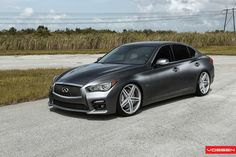 2014 Infiniti Q50 S on Vossen CV5 wheels.